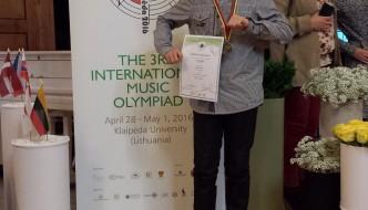 Ivan Habazin 3. na međunarodnoj glazbenoj olimpijadi u Litvi