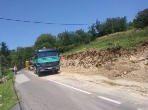 Počela sanacija klizišta na županijskoj cesti u Hrašćini