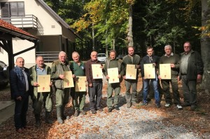 Odlikovanja za bistričke lovce