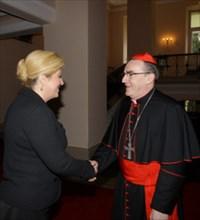 Božićna čestitka kardinala Bozanića Predsjednici RH