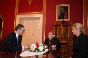 Kardinal Bozanić primio Predsjednika Republike Srbije